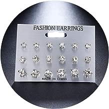 CAIYCAI Geometric Stud Earrings Set For Women Girls Bead Stone Flower Small Earrings Boucle D'Oreille