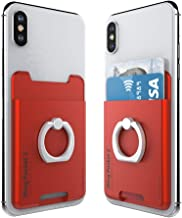 AAUXX iRing Pocket 2 Cell Phone Ring Stand Accessory. Phone Wallet Card Holder with Finger Grip. Compatible with iPhone, Galaxy, Other Android Smartphones.