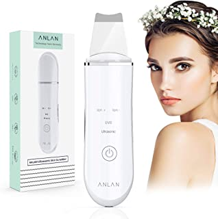 ANLAN Peeling Ultrasónico Facial Skin Scrubber Exfoliación Facial Ultrasónica Limpiador de Poros para Limpieza Facial y Cu...