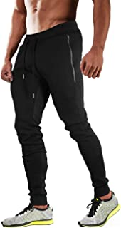 MAGCOMSEN Men's Jogger Pants with 3 Pockets Tapered Fit Gym Workout Running Sweatpants