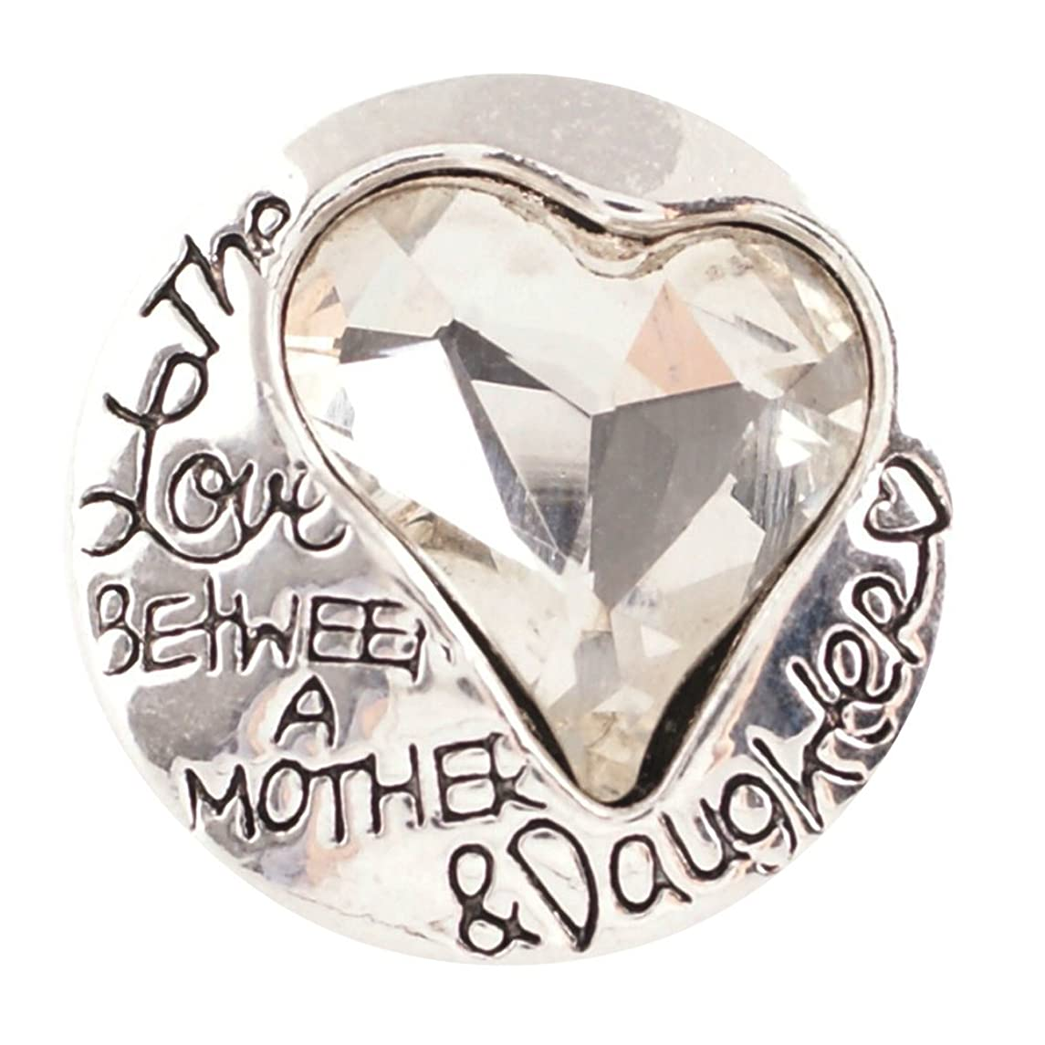 Dragonfly Spirit Designs Snap Charm The Love Between a Mother and Daughter Clear 3/4