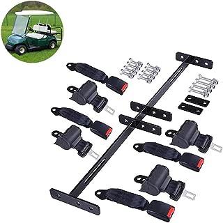 WYLL 4 Retractable Golf Cart Seat Belts and Bracket Kit for EZGO Yamaha Club Car