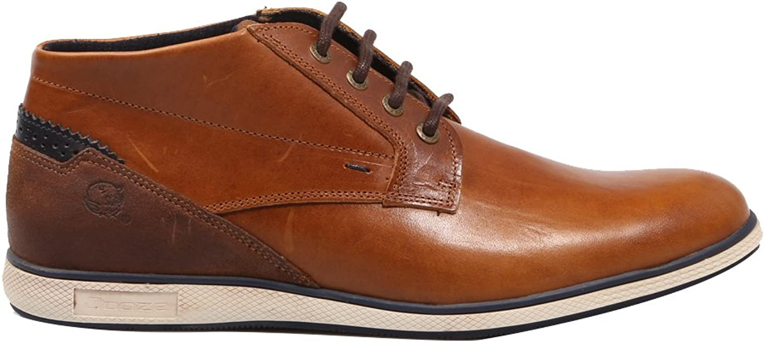 Joseli,Brown Leather Ankle Boots for Men J4723, 67571