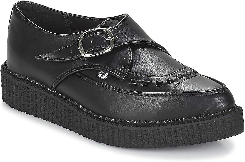 T.U.K. chaussures Noir Tukskin Fait Liane Boucle Végétalien EU38   UKW5