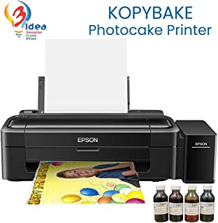 3IDEA Photocake Printer kit A4 Complete Set Including 25 Icing Sheets and 4 Ink Bottles (CMYK 100ml)