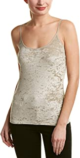Vince Womens Velvet Scoop Neck Cami Taupe Extra Small, Small, Medium