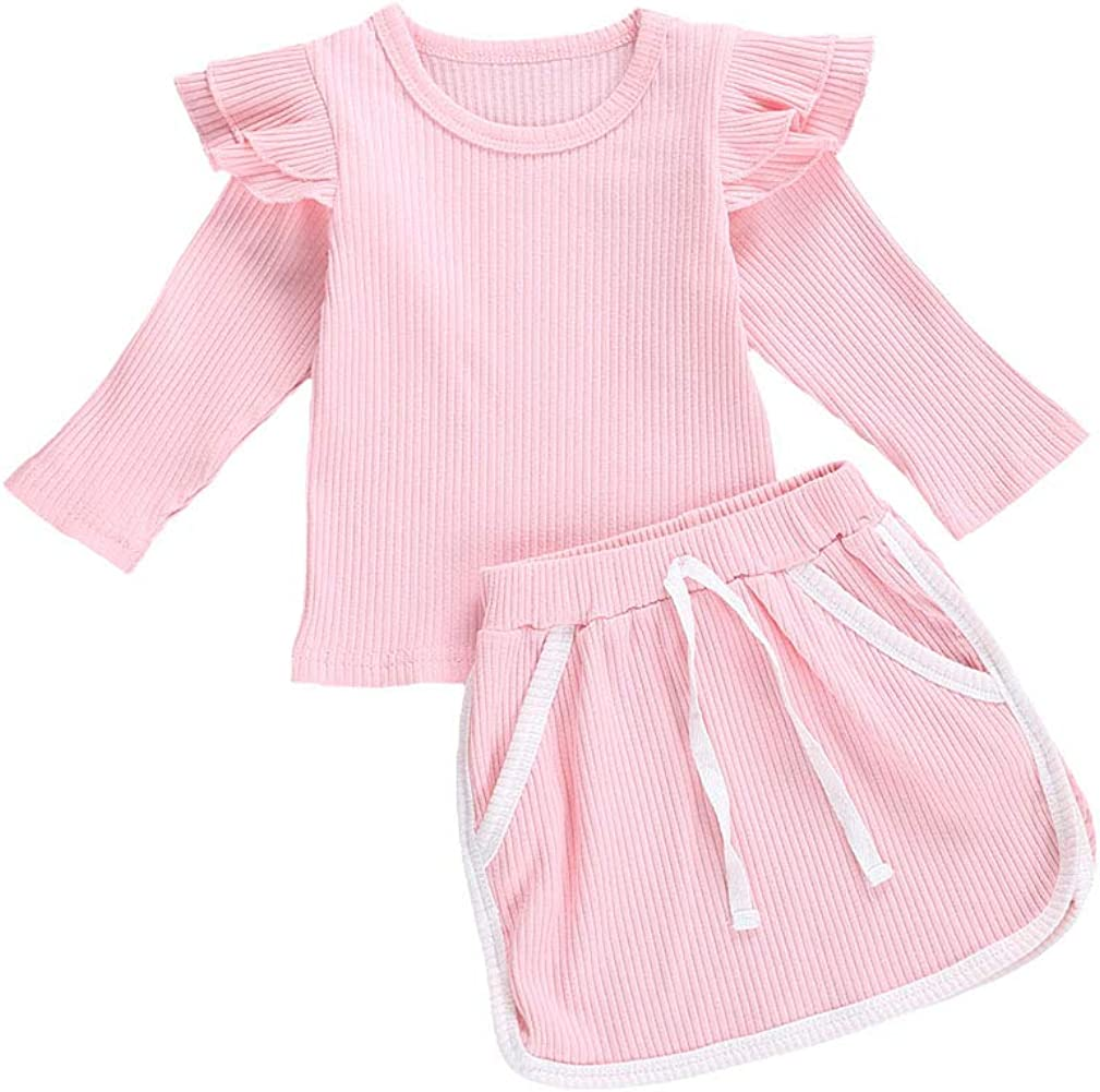 Max 50% OFF Baby Girls Summer Clothes Ruffle Low price T Short Shirt Drawstring + Tops