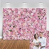 Avezano 2.1x1.5m Rose rose mur toile de fond mariage fleur photographie fond décors floraux pour la saint valentin anniversaire nuptiale douche fête décoration