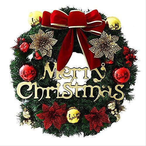 Corona de Navidad,Decoración corona Navidad cono pino artificialCorona navideña 50 cm decoración navideña accesorios de ventana centro comercial diseño de escena adornos de puertas y ventanas de casa