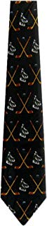 Ice Hockey Theme Novelty Necktie