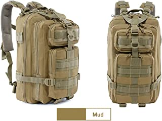 QAQ Mochila De Asalto Táctico Militar Multifuncional 30L 1000D Impermeable Tejido Oxford MOLLE Sistema Enchufable Adecuado para Viajar Caminando Caminar Senderismo Mochila De Camping