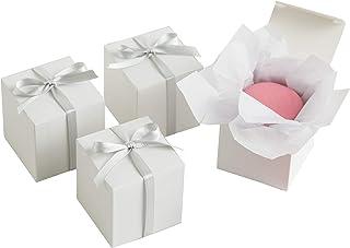 Simplicity White Wedding Favor Box Kit, 100pc, 2''L x 2''W x 2''H
