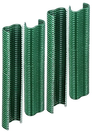 GAH-Alberts 530969 Drahtklammer | zinkphosphatiert, grün kunststoffbeschichtet | Breite 22 mm | 200er Set