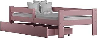Children's Beds Home Lit Simple en Bois de Pin Massif - Willow est livré avec Tiroirs et Mousse - Fibre de Coco - Matelas ...