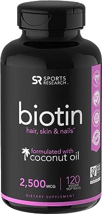 Biotin Infused with Organic Virgin Coconut Oil - 2500mcg (120 Veggie-softgels)