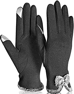 Womens Winter Gloves Touch Screen Texting Soft Thick Warm Fleece Lined Windproof Driving Mittens