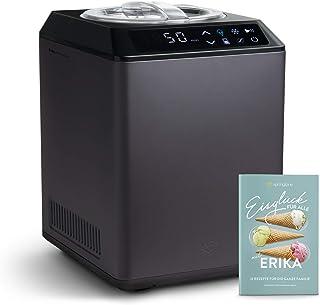 Sorbetière Turbine à Glace Erika avec compresseur de refroidissement et fonction de chauffage, 2.5 L Ice-Cream & Joghurt-M...