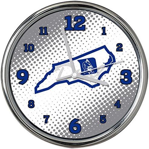 NCAA Duke Super sale University Col-Duk-2238Chrome Clock - Max 45% OFF Mind St State of