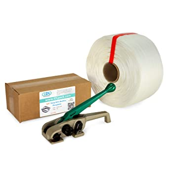 Pack of 1 White 6 x 3 Core 1640 lbs Break Strength IDL Packaging 3//4 x 250 Mini Woven Cord Strapping Roll