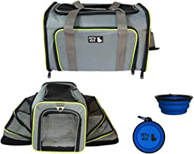 PETS GO2 Pet Carrier for Dogs & Cats - Airline Approved Premium Expandable Soft Animal Carriers - Portable Soft-Sided Air Travel Bag - Best for Small or Medium Dog and Cat