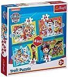 Trefl, TR34346 - Puzzle de la Patrulla Canina, de 12 a 24 Piezas, 4 Juegos, para niños a Partir de 3 años