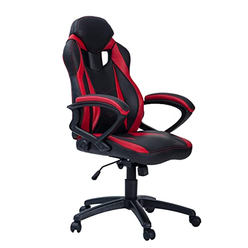 Pleasant Gaming Chair Red Amazon Com Creativecarmelina Interior Chair Design Creativecarmelinacom