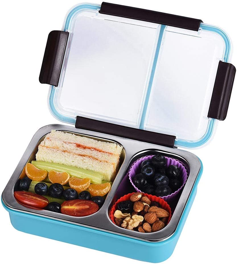 Bento Box 2 Compartments Stainless an Steel Adults Many popular brands Large-scale sale Lunch for