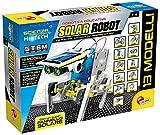 12 robot ad energia solare da costruire in modo facile e divertente Ci sono perfino robot acquatici, assembla i circuiti Contiene modulo energia solare, parti dei robot da montare e manuale illustrato Primi rudimenti di robotica