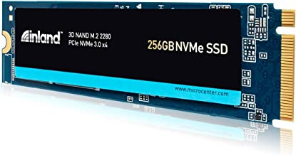 Inland Premium 256GB 3D NAND TLC M.2 2280 PCIe NVMe 3.0 x4 Internal Solid State Drive, Read/Write Speed up to 2900MB/s and...