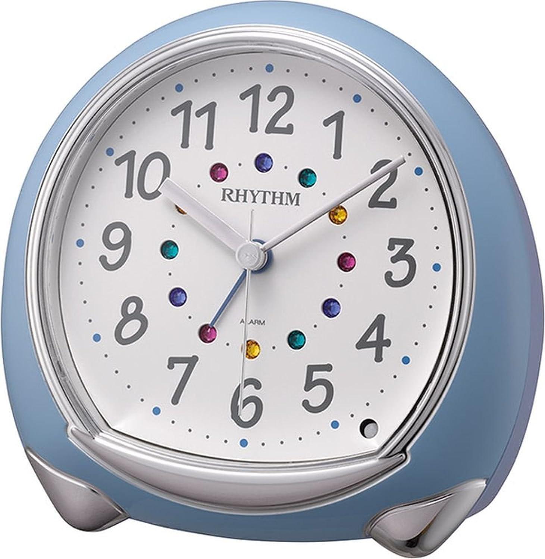 RHYTHM (Rhythm Clock) Fancy continuous second hand Alarm Abisko SR bluee 8RE653SR04