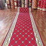 alfombra Alfombra de Pasillo Larga Roja Clásica,Alfombra de...