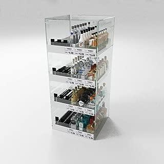 Commercial Mini Liquor 50ml Nips Bottle Display Case, Acrylic Countertop Rack Shelves with Dividers, 144 Bottle Capacity 12