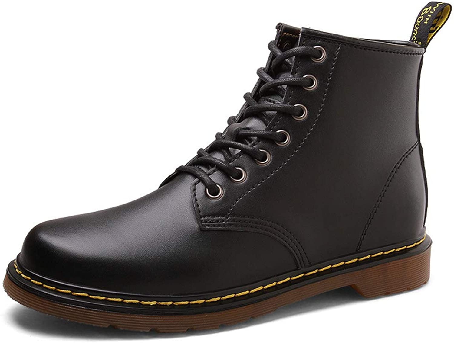Men's shoes Fall Winter New Leather Boots Fashion Comfortable High-Top shoes Non Slip Wear-Resistant Men shoes,B,37