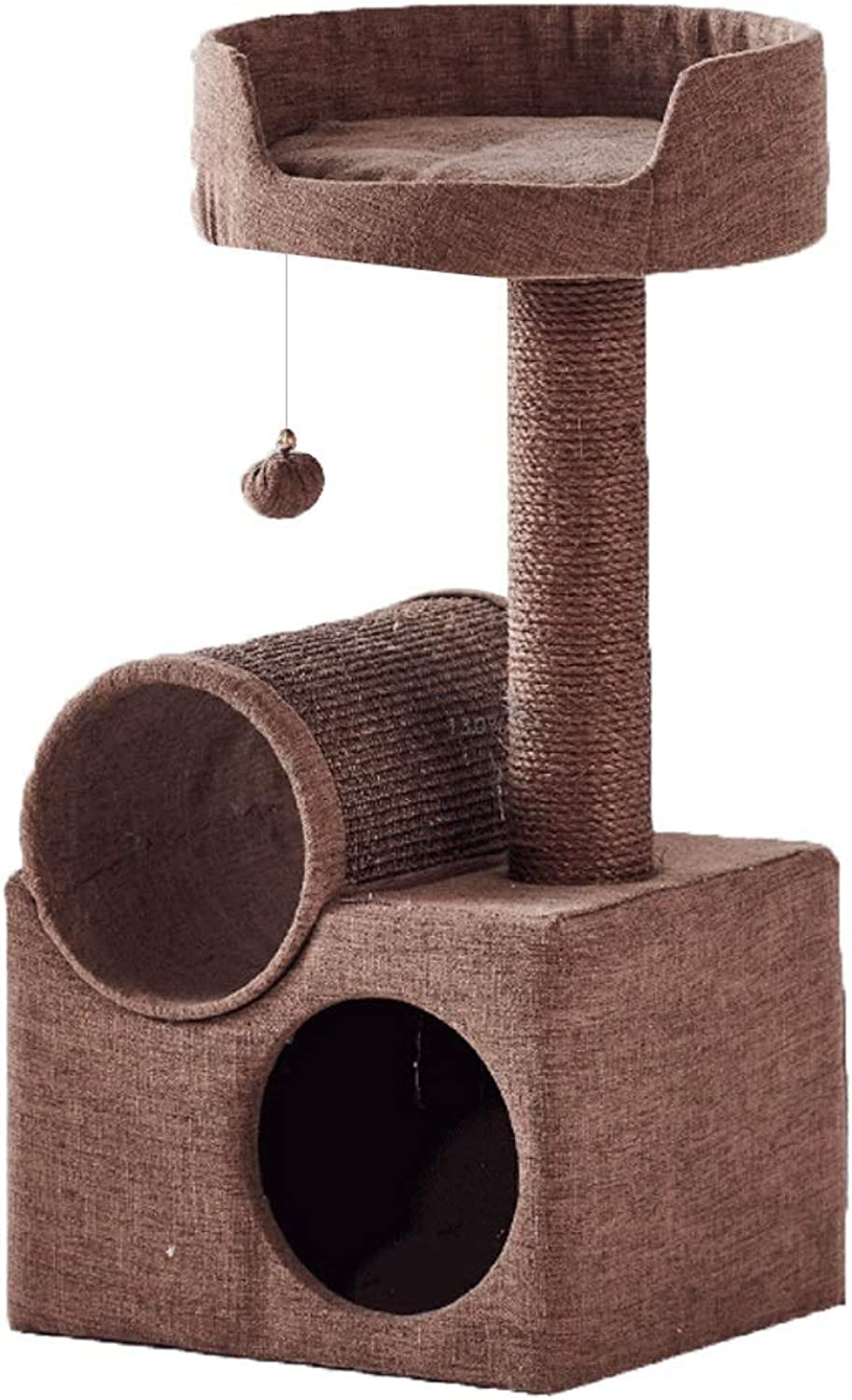 RKY Cat tree 2019 new summer and winter cat tree brown cat nest cat box one funny cat ball pet toy pet supplies