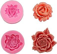 ييكون 2 قطع صنع وردة زهرة فندان 3d DIY شكل اليدوية تزيين قوالب فندان الشوكولاته كعكة أدوات المطبخ الخبز