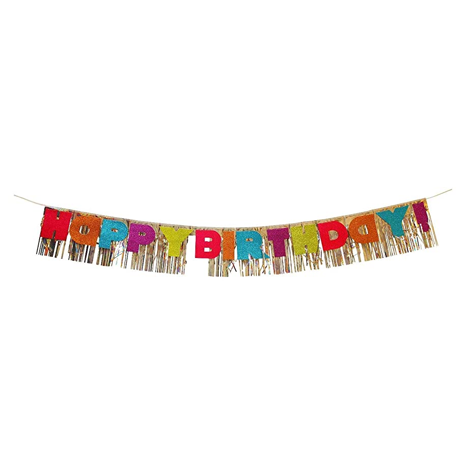 Party Decorations Happy Birthday Banner Available in Multiple Colors and Materials for Birthday Party Decorations (Glitter)