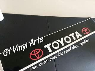 GY Vinyl Arts Windshield,Sun Visor Strip,Decal,Sticker,Banner,Car,Graphics,for,Corolla,Sienna,Matrix,Camry,Tercel,Yaris,Tacoma,4runner, C-HR,Supra,Prius,Hatchback,Avalon,Mirai