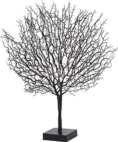 Lunartec Lichtbaum: Moderner Lichterbaum mit 25 warmweißen LEDs, 50 cm, schwarz (LED Bäumchen)
