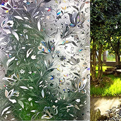 LEMON CLOUD 3D Window Film No Glue Static Decorative Privacy Films Window Frost Film for Glass (17.5In. by 157.4In)