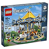 LEGO Creator Expert-Tiovivo, juguete de construcción de atracción del parque con figuras de animales y minifiguras (10257)