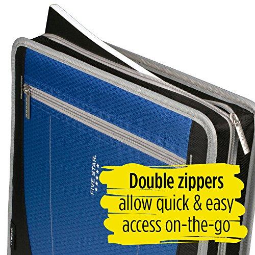 Five Star Zipper Binder, 2 Inch 3 Ring Binder, Removable File Folders, Durable, Blue (73285) Photo #8