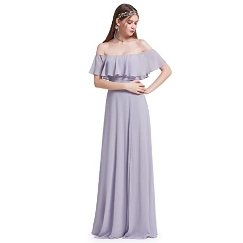 88d53760b6e6f Ever-Pretty Womens Elegant Sleeveless Floor Length Ruffles Chiffon  Bridesmaids Dress 07201