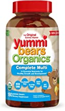 Yummi Bears Organics Complete Multi Vitamin and Mineral Supplement, Gummy Vitamins for Kids, 180 Count (Pack of 1)