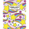 Cornell Notes Notebook: Amazing Large Cornell Note College Ruled Paper Notebook | Medium Lined Journal Note Taking System for School, College & University | Rainbow Star Pattern for Girls