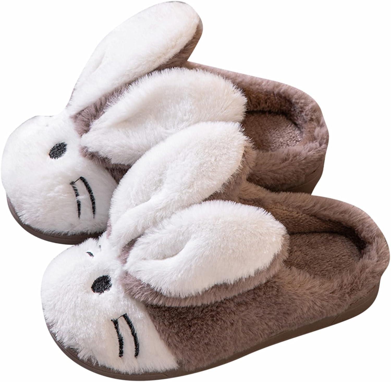 Toddler Slippers Boys Cartoon Cute Animals Plush Warm Home Shoes Kawaii Bunny Bedroom Slippers Indoor Outdoor
