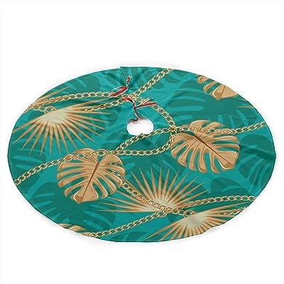 WU4FAAR - Falda para árbol de Navidad, Color Azul, Tela, Negro, 36 ...