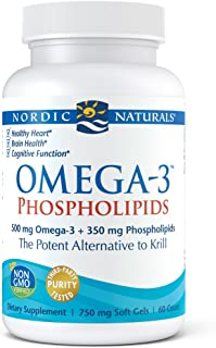 Nordic Naturals - Omega-3 Phospholipids, The Potent Alternative to Krill, 60 Soft Gels