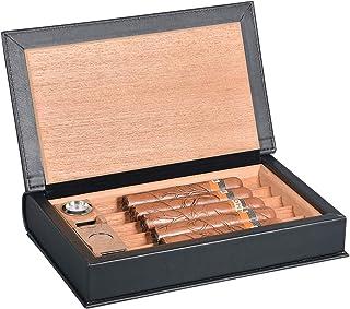 Color : Black, Size : 188x238mm Bo/îte Fait /À La Main /À Partir De Bois De C/èdre Peut Contenir 15 Cigares Cadeau pour Homme XYJNN Cave a Cigare-Cigare Boite a Cigare-cigares Cigare Hydratant