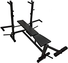 MADHRUN BodyKare Home Gym 8-in-1 Multipurpose Bench for Incline/Decline/Flat/Leg Curl/Leg Extension/Chest Fly/Dips/Push-Ups