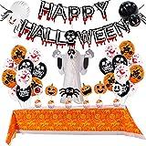Humidifier Set De Globo De Halloween Color De Sangre Banner Papel De Panal De Panal Paquete Fantasma Tres Dimensional Fantasma Festival Festival Decoración De Fiesta para Niños Halloween Party